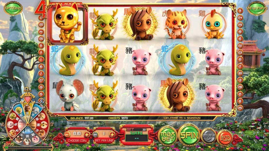 Обзор игрового автомата 4 Seasons
