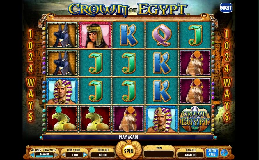 Обзор игрового автомата Crown of Egypt