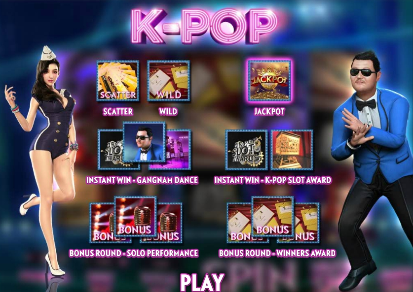 Обзор игрового автомата K-Pop графика