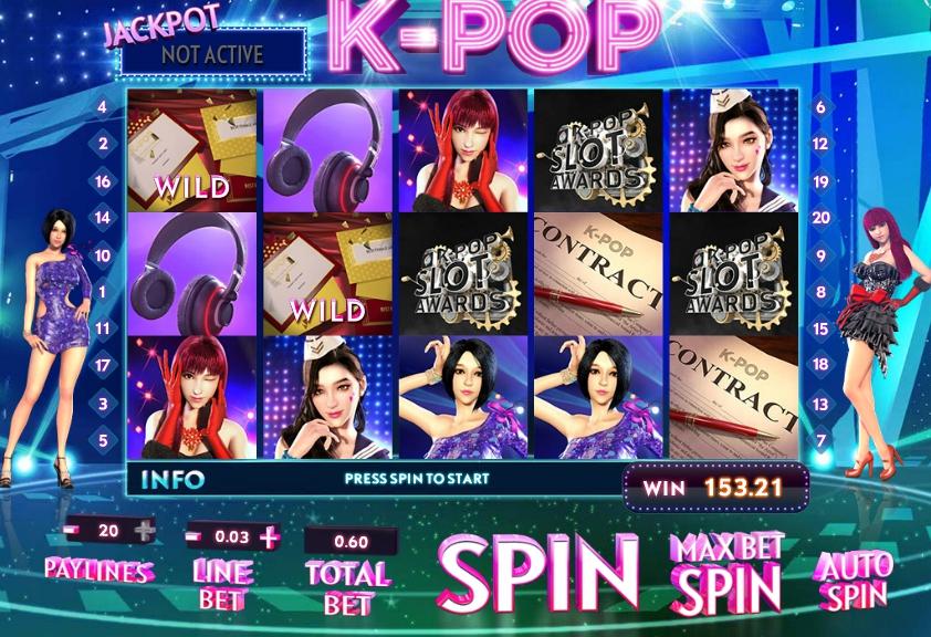 Обзор игрового автомата K-Pop