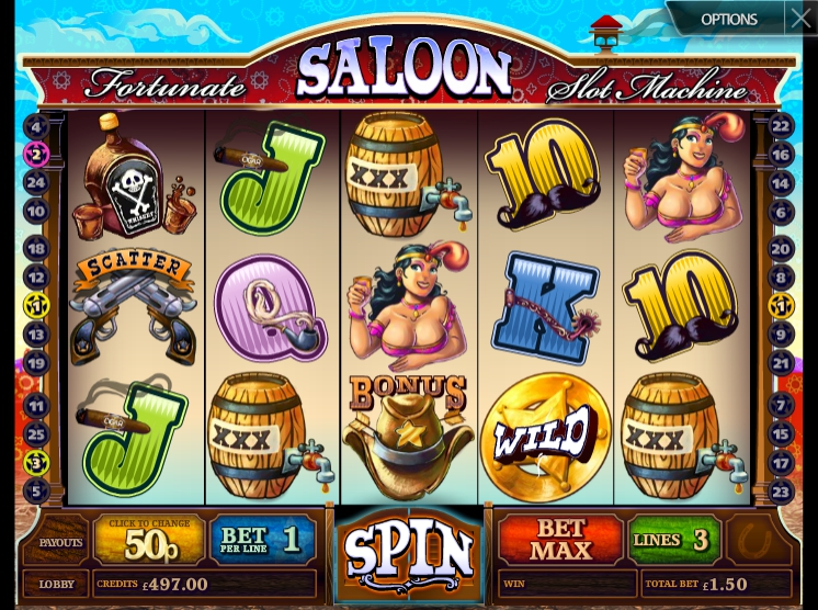 Обзор игрового автомата Fortunate Saloon